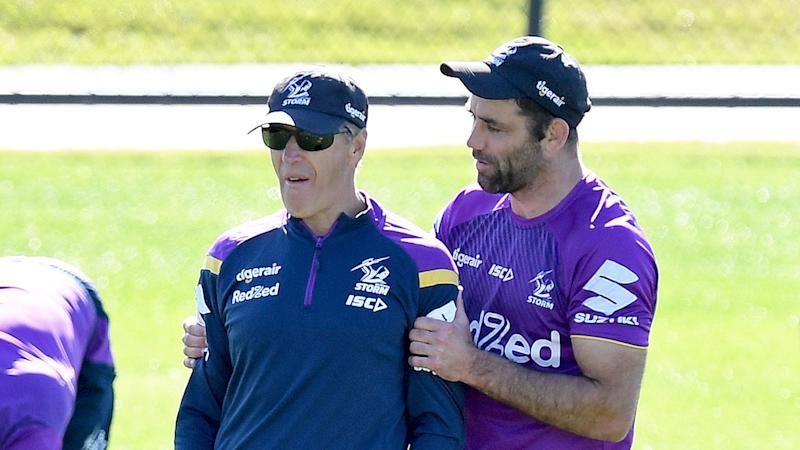 Pictured here, Melbourne Storm coach Craig Bellamy and Cameron Smith.