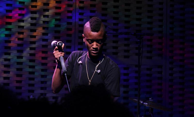 Syd performs with The Internet in 2015 at Madiba Harlem in New York City. Courtesy of Garrett Clare