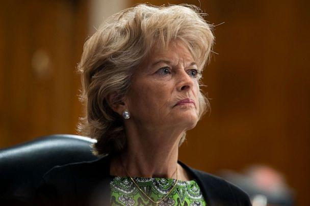 PHOTO: Republican Sen. Lisa Murkowski looks on  during the Senate Health, Education, Labor, and Pensions Committee hearing to examine COVID-19 'focusing on lessons learned to prepare for the next pandemic' on Capitol Hill,on June 23, 2020, in Washington. (Pool/Getty Images)