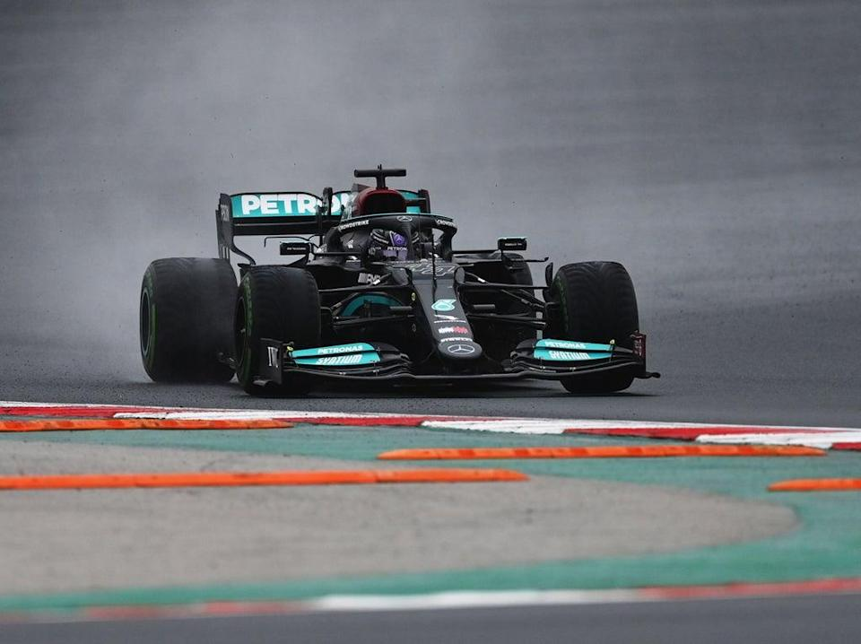 Lewis Hamilton driving at the Turkish Grand Prix (Getty Images)