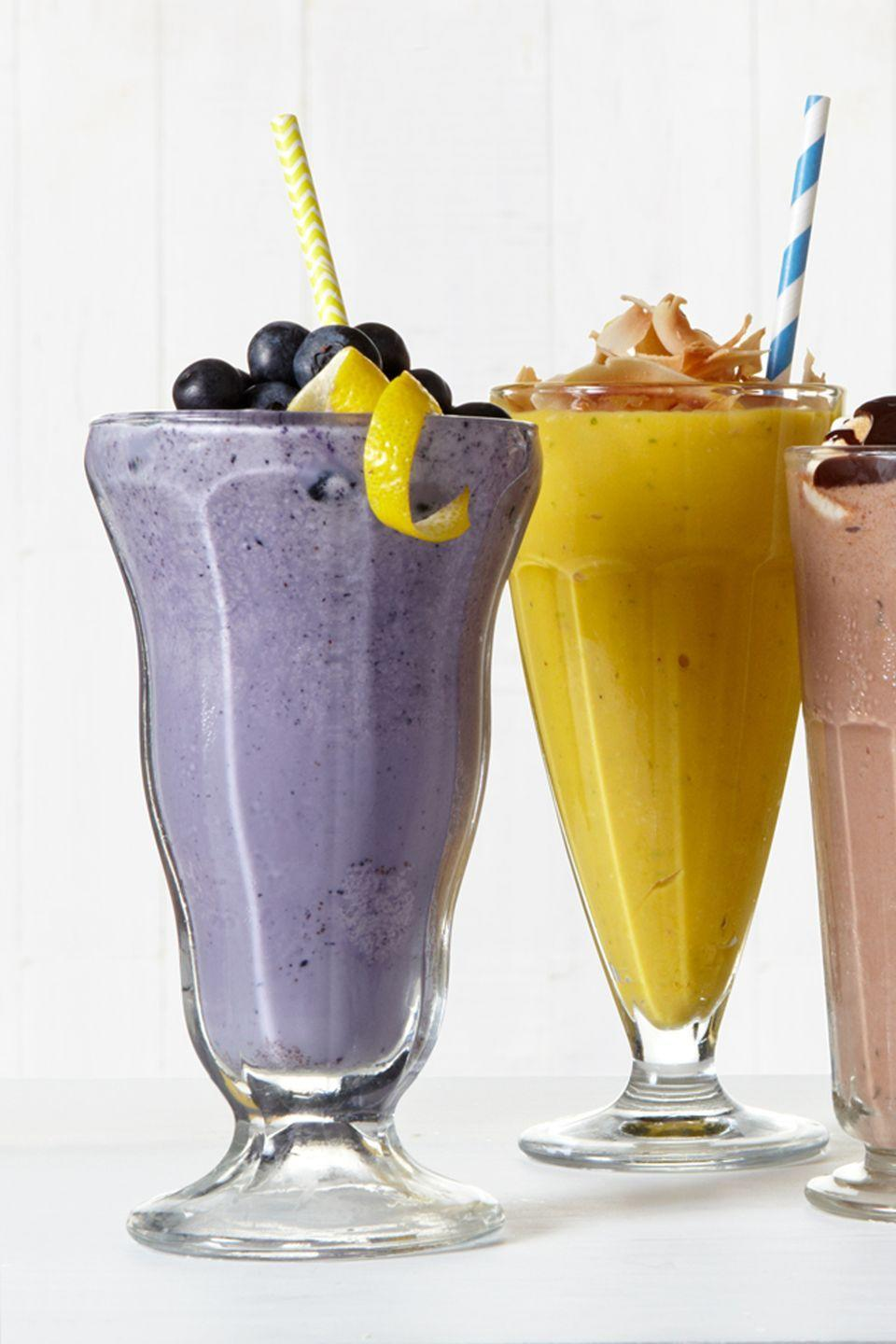 """<p>Enjoy blueberry pie à la mode in this spectacular summertime shake.</p><p>Get the recipe from <a href=""""https://www.delish.com/cooking/recipe-ideas/recipes/a43294/blueberry-lemon-shake/"""" rel=""""nofollow noopener"""" target=""""_blank"""" data-ylk=""""slk:Delish"""" class=""""link rapid-noclick-resp"""">Delish</a>.</p>"""