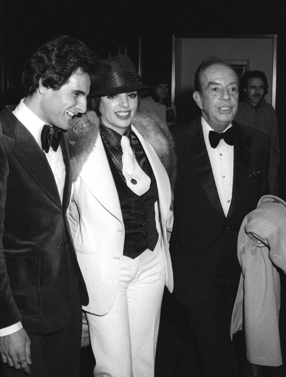 <p>Liza Minnelli and Vincent Minnelli attend the opening party on January 6, 1974 at the Rainbow Room in New York City.</p>