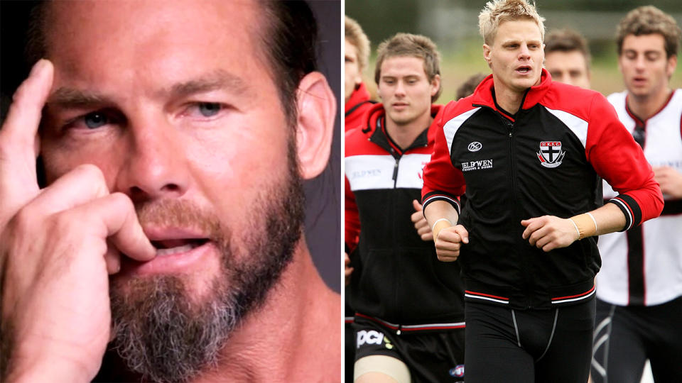 Ben Cousins, pictured here during his interview with Channel 7.