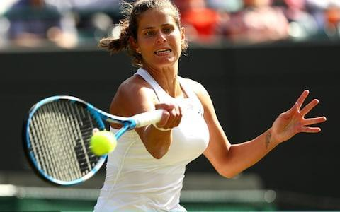 <span>Julia Goerges is into her first grand slam semi-final at the 42nd attempt</span> <span>Credit: Getty Images </span>