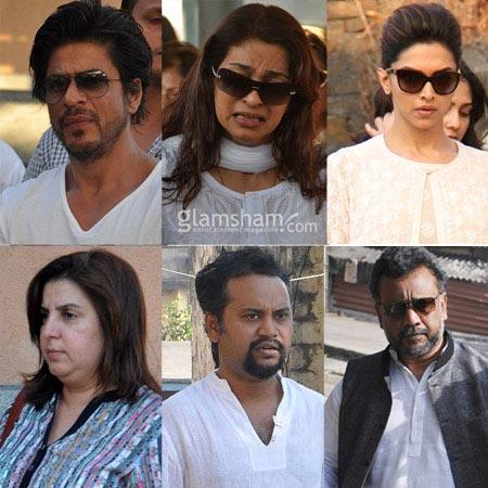 Shahrukh Khan, Madhuri Dixit condole; Juhi Chawla breaks down at brother Bobby's funeral