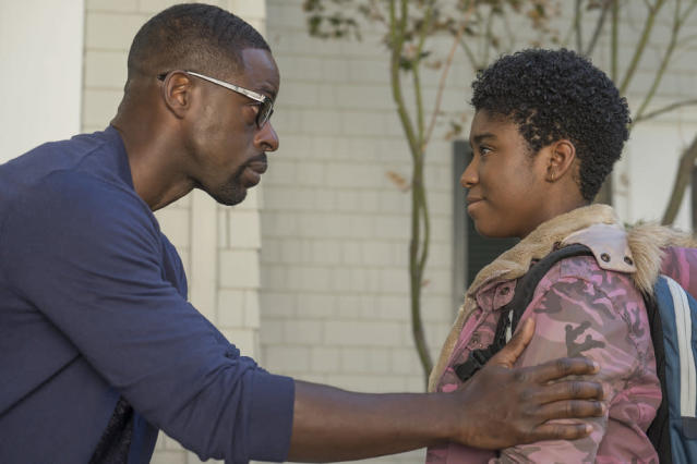 Sterling K. Brown as Randall and Lyric Ross as Deja in  <em>This Is Us</em> (Photo by: Ron Batzdorff/NBC)