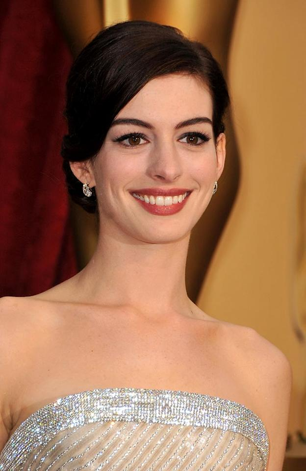 Anne Hathaway arrives at the 81st Annual Academy Awards -- Feb. 22, 2009.