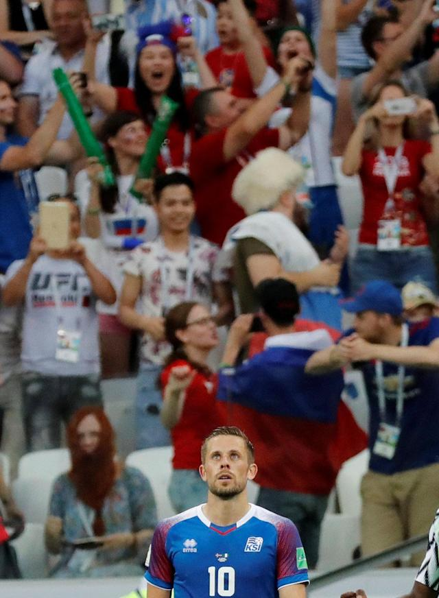 Soccer Football - World Cup - Group D - Nigeria vs Iceland - Volgograd Arena, Volgograd, Russia - June 22, 2018 Iceland's Gylfi Sigurdsson looks dejected after missing a penalty REUTERS/Toru Hanai TPX IMAGES OF THE DAY