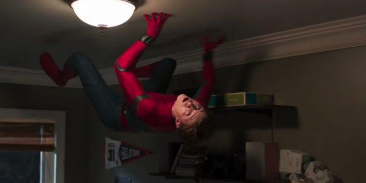Peter Parker practicing his spider skills (Marvel)