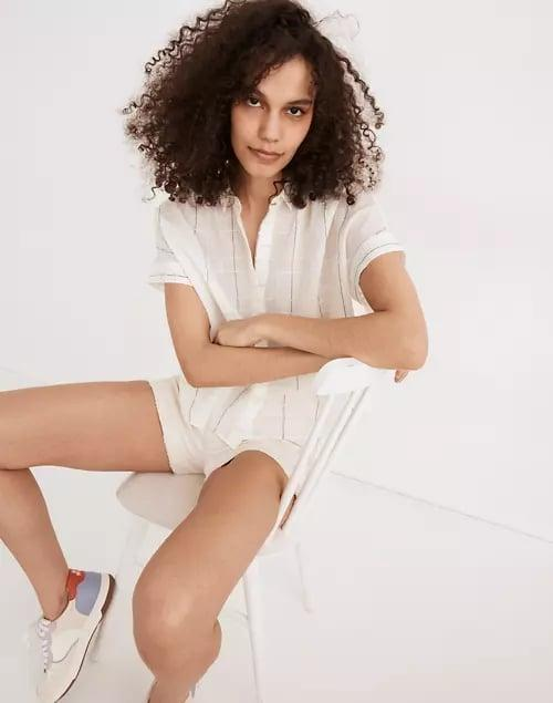 <p>If you're looking for a short sleeve button down, go for this <span>Madewell Hilltop Shirt</span> ($72).</p>