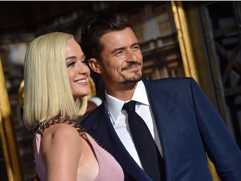 """Katy Perry and Orlando Bloom. <p class=""""copyright"""">Phillip Faraone/Getty Images</p>"""