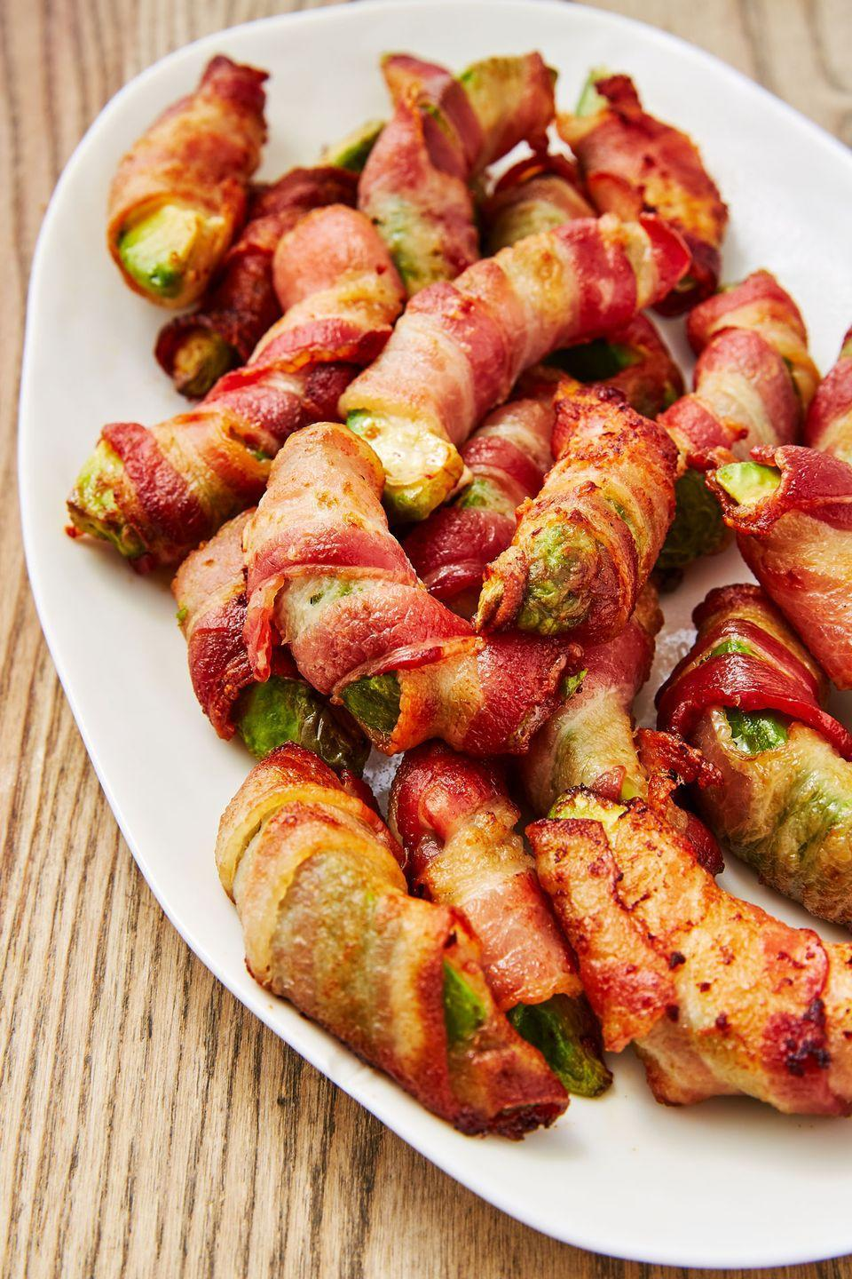 """<p>Take your avocado obsession to the next level with this finger food.</p><p>Get the recipe from <a href=""""https://www.delish.com/cooking/recipe-ideas/recipes/a48261/bacon-avocado-fries-recipe/"""" rel=""""nofollow noopener"""" target=""""_blank"""" data-ylk=""""slk:Delish"""" class=""""link rapid-noclick-resp"""">Delish</a>.</p>"""