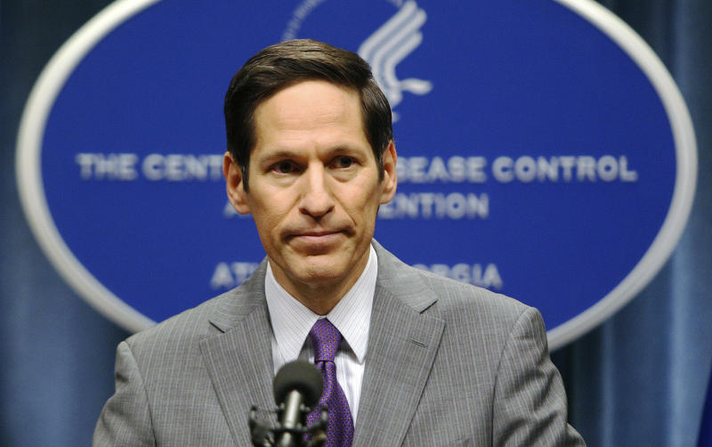 Dr. Thomas Frieden speaks at the Centers for Disease Control and Prevention headquarters in Atlanta on Sept. 30, 2014. (Tami Chappell / Reuters)