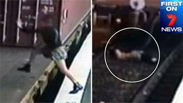 Miracle survival: Woman's 'unbelievably stupid' leap onto freight train