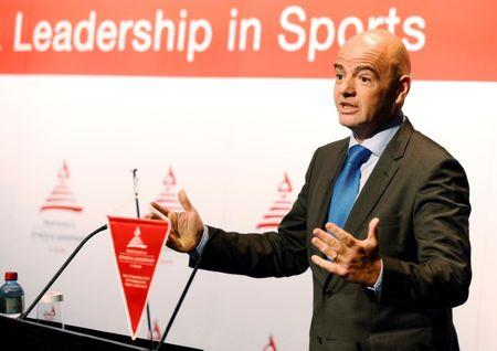 FIFA President Infantino attends the World Summit on Ethics and Leadership in Sports in Zurich