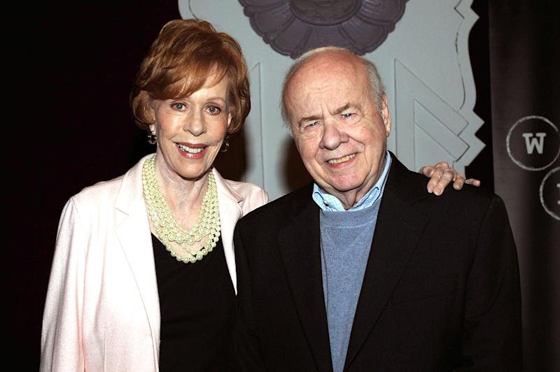 Comedians Carol Burnett and Tim Conway pictured on Nov. 12, 2013, in Beverly Hills, California. (Photo: Joshua Blanchard/WireImage)