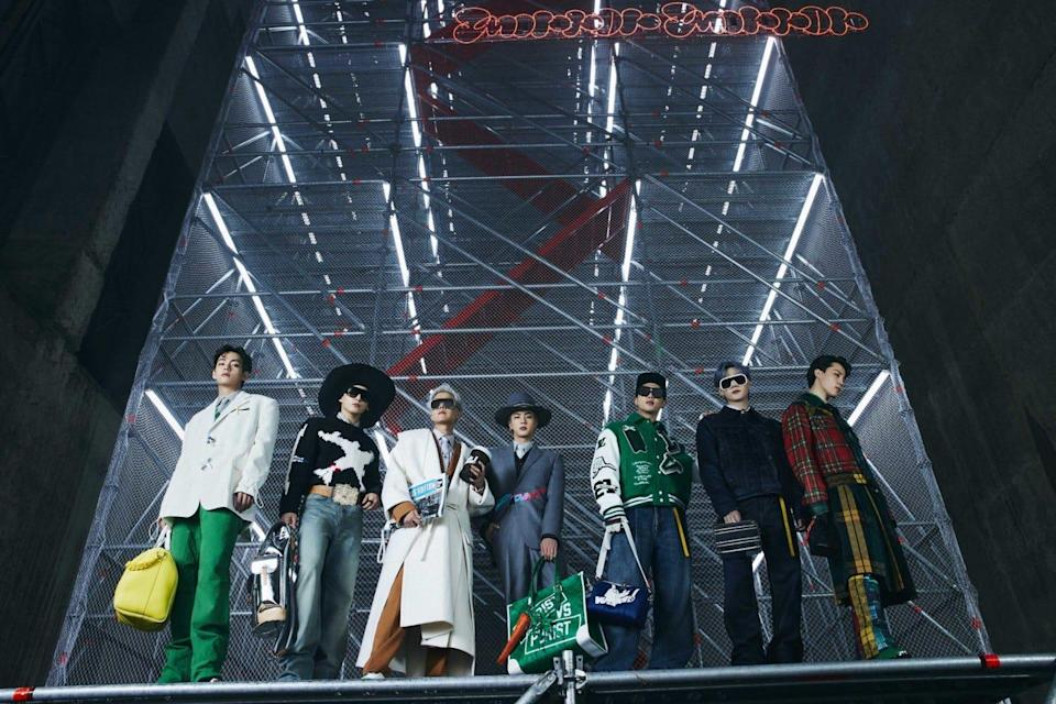 BTS stuns in new looks for the Louis Vuitton Fall / Winter Spin-Off collection created by Virgil Abloh.