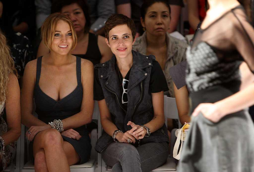 """Girlfriends Lindsay Lohan and Samantha Ronson turned heads at Fashion Week while attending Charlotte Ronson's (Samantha's sister) show on Saturday. Stephen Lovekin/<a href=""""http://www.wireimage.com"""" target=""""new"""">WireImage.com</a> - September 6, 2008"""