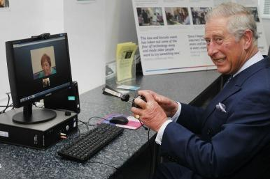 Prince Charles using skype