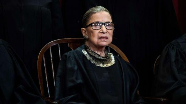 PHOTO: Associate Justice Ruth Bader Ginsburg during an official group photo at the Supreme Court on Nov. 30, 2018 in Washington. (Washington Post via Getty Images, FILE)