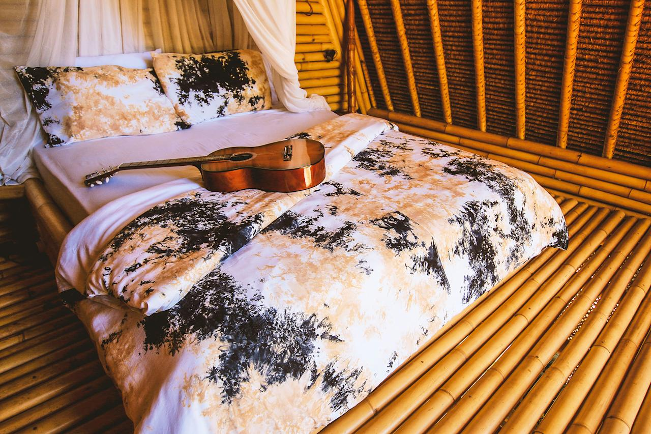 <p>Situated on two floors, the Hideout comes with a fully equipped kitchen, relaxation area and a king size bed complete with a handy mosquito net. </p>