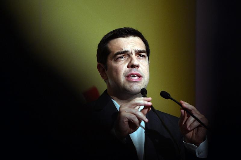 """""""We have done what we ought to do, now it's Europe's turn to do so,"""" PM Alexis Tsipras (pictured) said in a speech to his Syriza party's central committee, where he claimed the country is """"in the homestretch of a painful and difficult period"""" (AFP Photo/Louisa Gouliamaki)"""