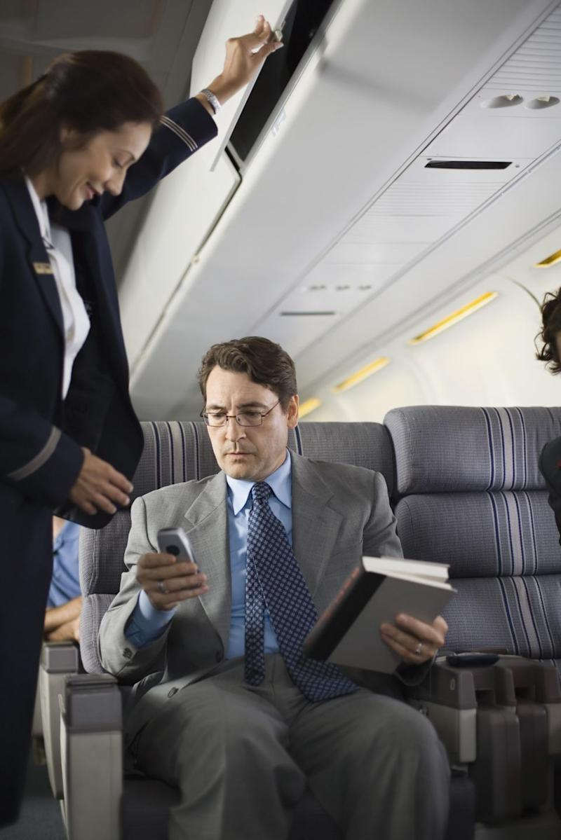 It's not the first time an airline insider has said the phone off rule is just a precaution. Source: Getty