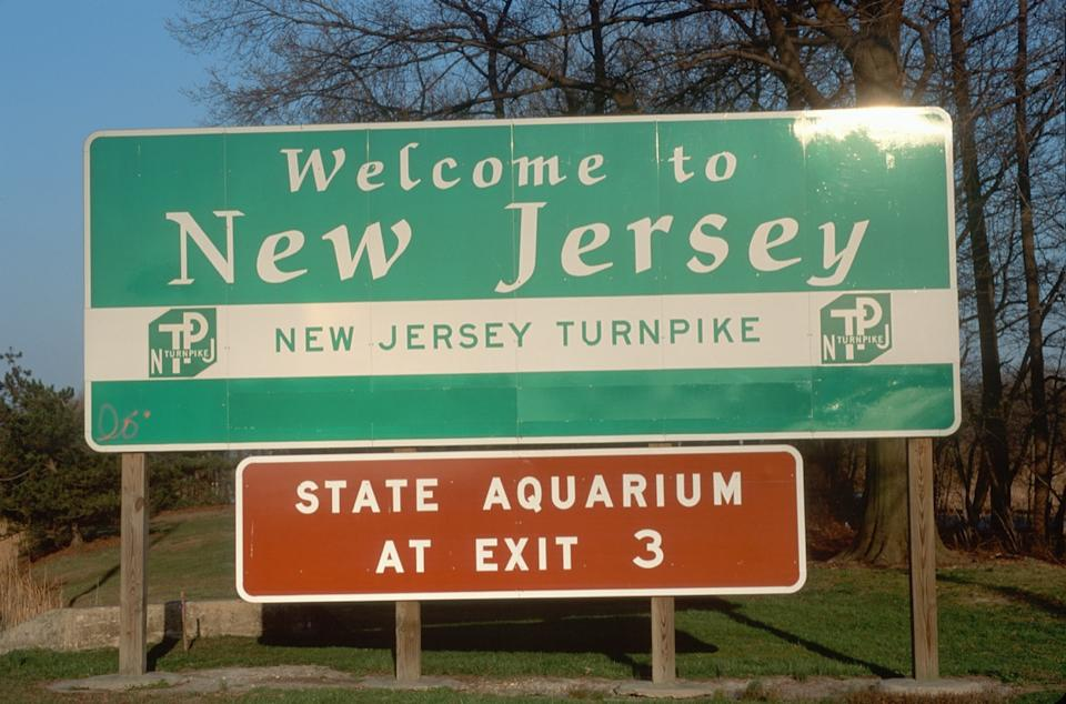 new jersey state welcome sign
