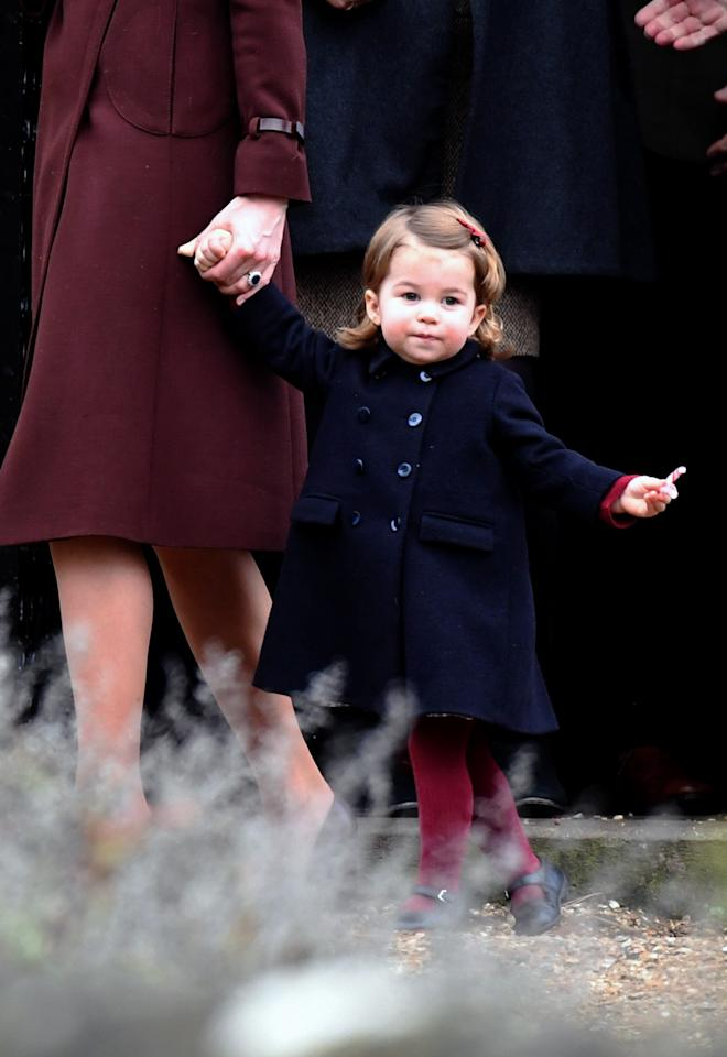 <p>The princess spent her second Christmas with the Middleton family in Berkshire, England. (Photo: PA) </p>