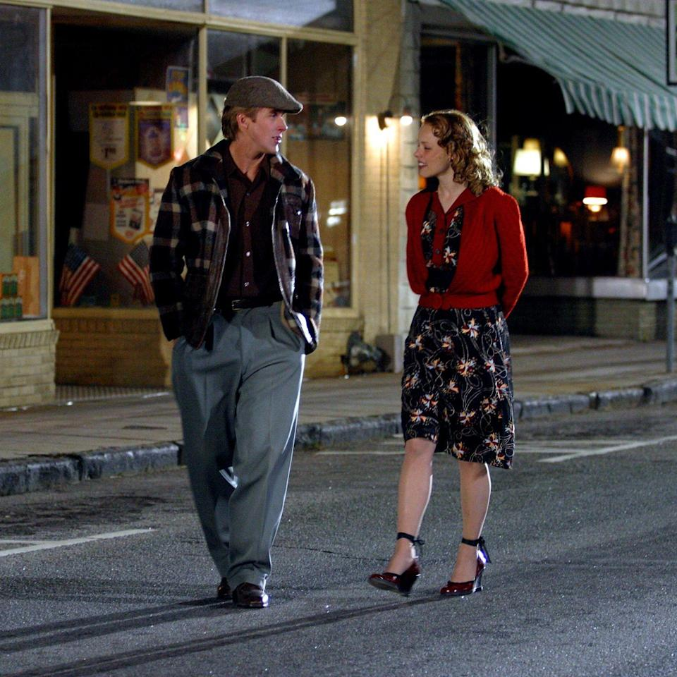 <p>Allie's patent leather burgundy wedges will always be remembered as her footwear of choice for her dance with Noah in the street—and are truly underrated, if you ask us.</p>