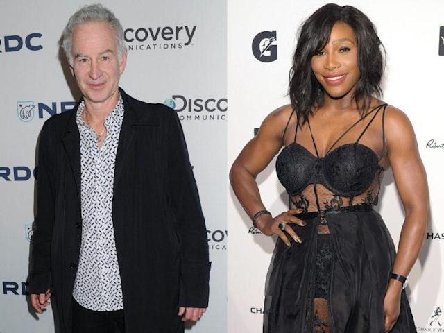 John McEnroe made a seemingly belittling statement about Serena Williams that the world champ has now made clear she is not happy about. (Photo: AP Images/Getty Images)