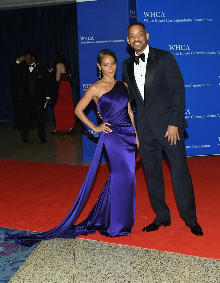 <p>Jada Pinkett Smith and Will Smith arrive at the White House Correspondents' Dinner, April 30. <i>(Photo: Evan Agostini/Invision/AP)</i></p>