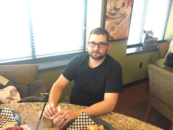 """Wes Donahoe, 29, is a medical equipment repair specialist in Jeannette, Pennsylvania. He voted for Libertarian Gary Johnson in the 2016 election and didn't know enough about the special election candidates to decide how he would vote. But he is pretty satisfied with President Donald Trump, including the tax cut bill, which he believes will help him and most people in the middle class. <br /><br />At the same time, Donahoe said the corporate tax cuts will probably not prompt companies to create new jobs. """"Just because a company is getting more tax breaks doesn't mean that there's more demand for[their]production or service or anything,"""" he said."""