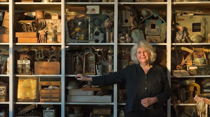 <p>Rosamond Purcell in her studio. (Dennis Purcell courtesy of BOND/360) </p>