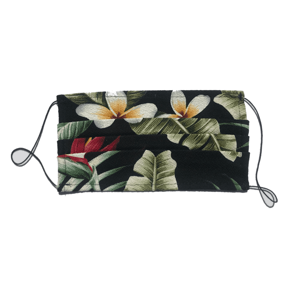 <p>Made with 100 percent cotton, the <span>Jungle Girl It's a Jungle Out There Face Mask</span> ($30) will add a cute pattern to your mask collection. Wash it when needed.</p>