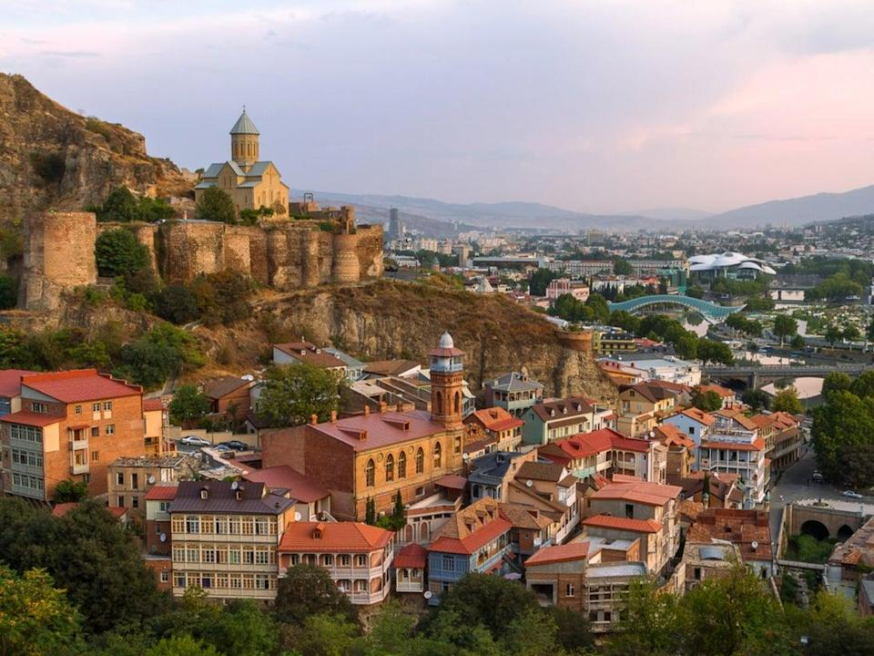 Narikala Castle and view over Tbilisi, Georgia (Getty Images/iStockphoto)