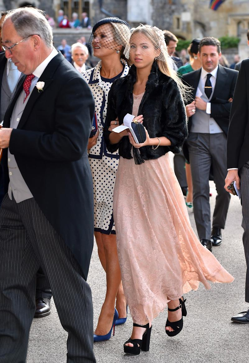 Kate Moss and Lila Grace Moss Hack ahead of the wedding of Princess Eugenie of York and Mr. Jack Brooksbank at St. George's Chapel on October 12, 2018, in Windsor, England.