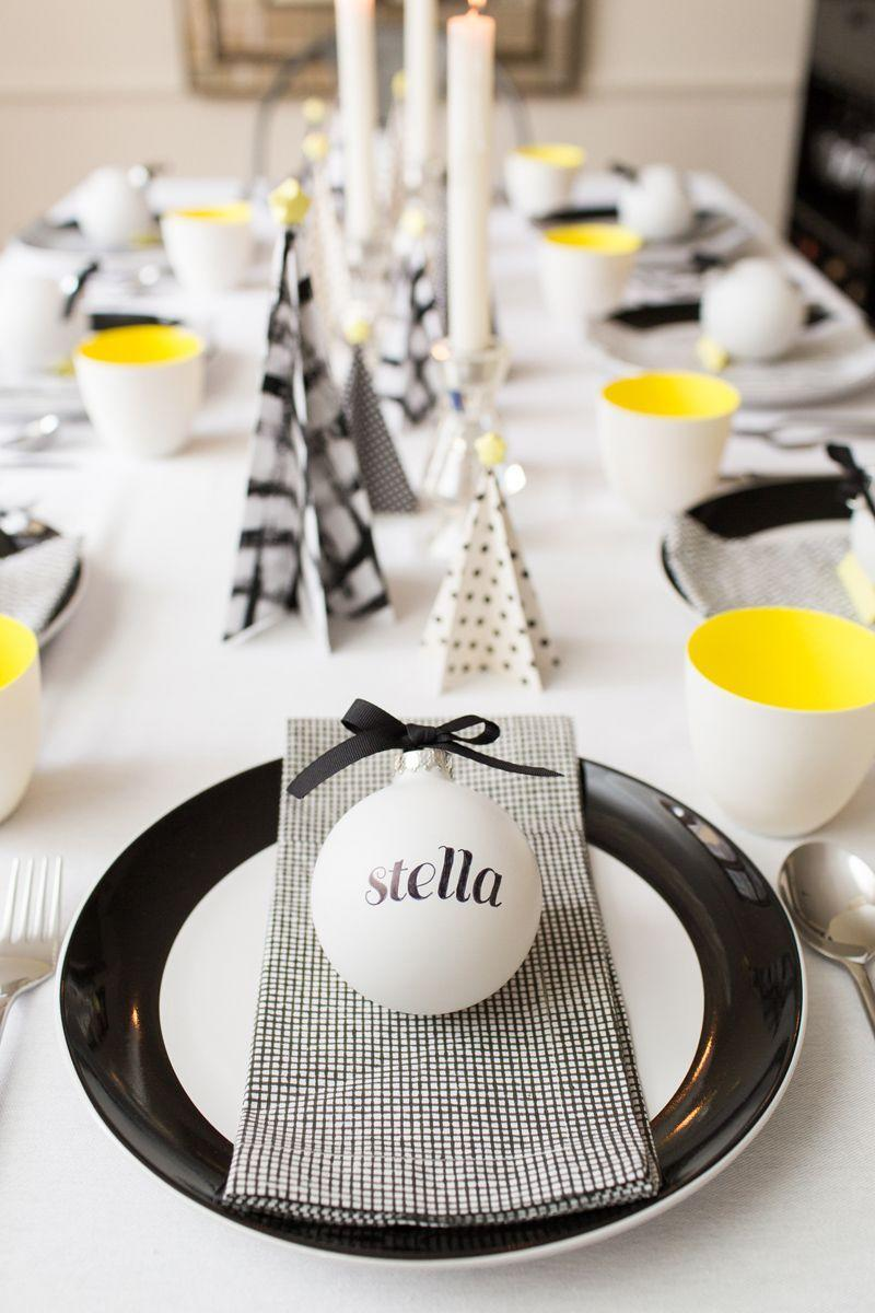 """<p>Black, white, and neon yellow aren't the traditional palette, but they look fresh on baubles and <a href=""""https://www.goodhousekeeping.com/holidays/christmas-ideas/how-to/g952/mod-christmas-trees/"""" rel=""""nofollow noopener"""" target=""""_blank"""" data-ylk=""""slk:paper Christmas trees"""" class=""""link rapid-noclick-resp"""">paper Christmas trees</a>. For each not-so evergreen, use printed card stock or paint on your own mod patterns. </p><p><a class=""""link rapid-noclick-resp"""" href=""""https://www.amazon.com/Sumen-24-Pack-Christmas-Bauble-Hanging/dp/B076VKZZFR?tag=syn-yahoo-20&ascsubtag=%5Bartid%7C10055.g.2196%5Bsrc%7Cyahoo-us"""" rel=""""nofollow noopener"""" target=""""_blank"""" data-ylk=""""slk:SHOP WHITE ORNAMENTS"""">SHOP WHITE ORNAMENTS</a></p>"""