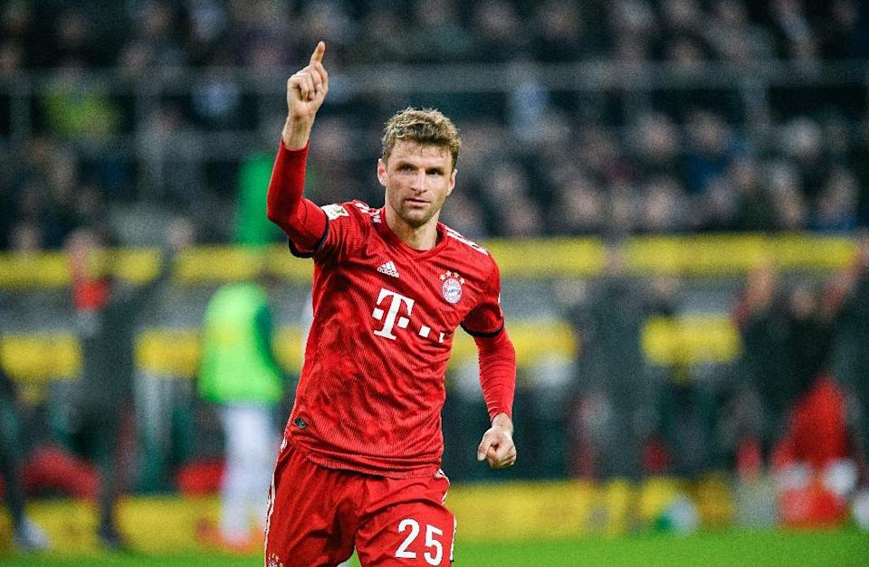 Thomas Mueller hopes Bayern will still be number one after a tough trip to Freiburg on Saturday (AFP Photo/SASCHA SCHUERMANN)