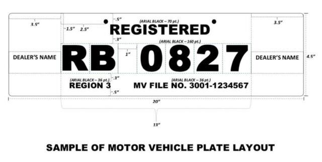 lto license place - temporary plate format