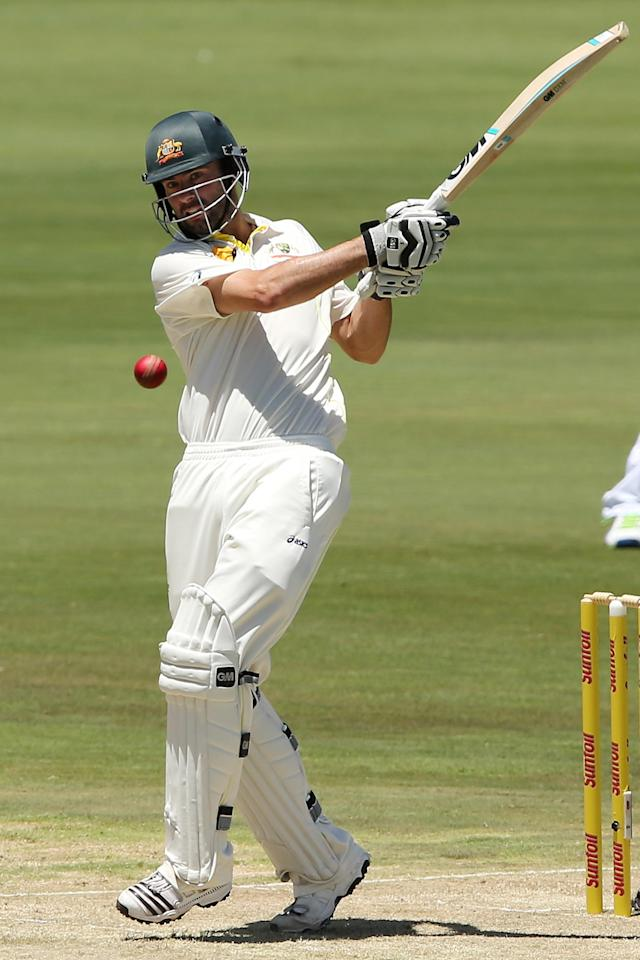 CENTURION, SOUTH AFRICA - FEBRUARY 12: Alex Doolan of Australia bats during day one of the First Test match between South Africa and Australia on February 12, 2014 in Centurion, South Africa. (Photo by Morne de Klerk/Getty Images)