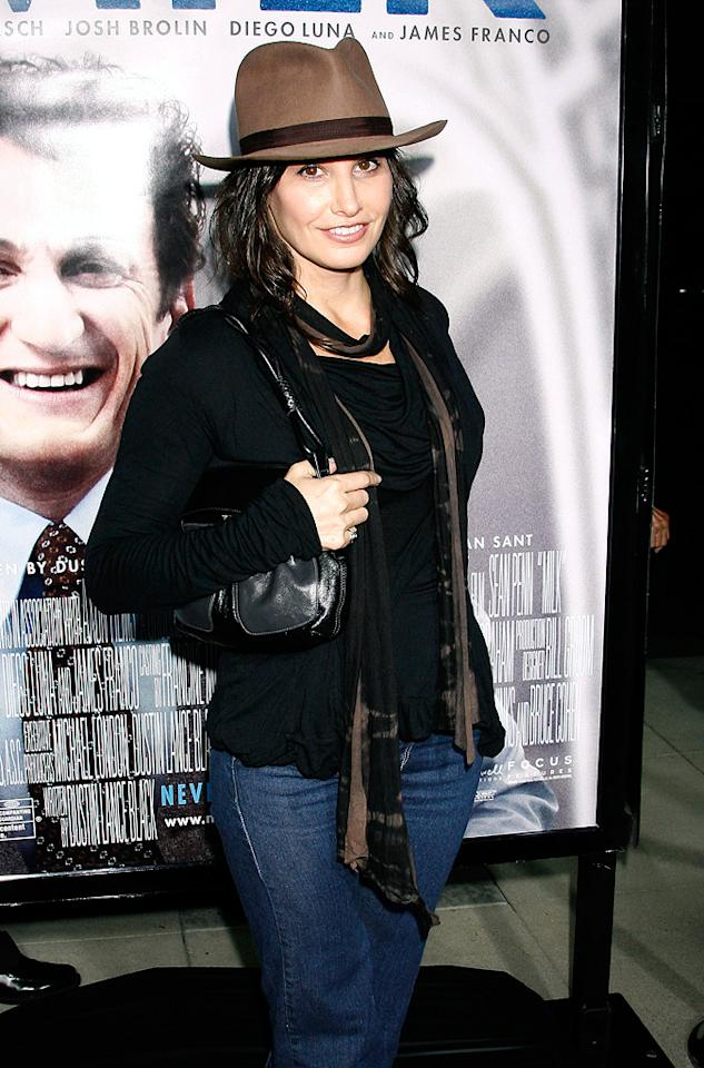 """<a href=""""http://movies.yahoo.com/movie/contributor/1800011452"""">Gina Gershon</a> at the Los Angeles premiere of <a href=""""http://movies.yahoo.com/movie/1810041985/info"""">Milk</a> - 11/13/2008"""