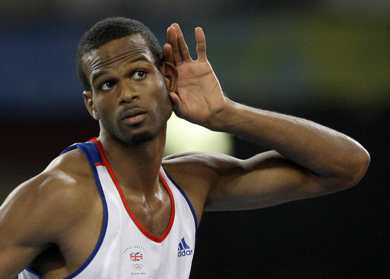 Britain's Germaine Mason gestures after an attempt, in the men's high jump final during the athletics competitions in the National Stadium at the Beijing 2008: AP