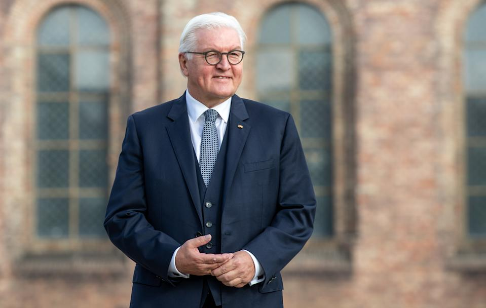 BERLIN, GERMANY - OCTOBER 03: German President Frank-Walter Steinmeier during an Ecumenical church service to mark the 30th anniversary of German reunification on October 03, 2020 in Potsdam, Germany. On October 3, 1990, following the fall of the Berlin Wall and the end of the Cold War a year earlier, West Germany and East Germany merged into modern Germany. (Photo by Andreas Gora - Pool/Getty Images)