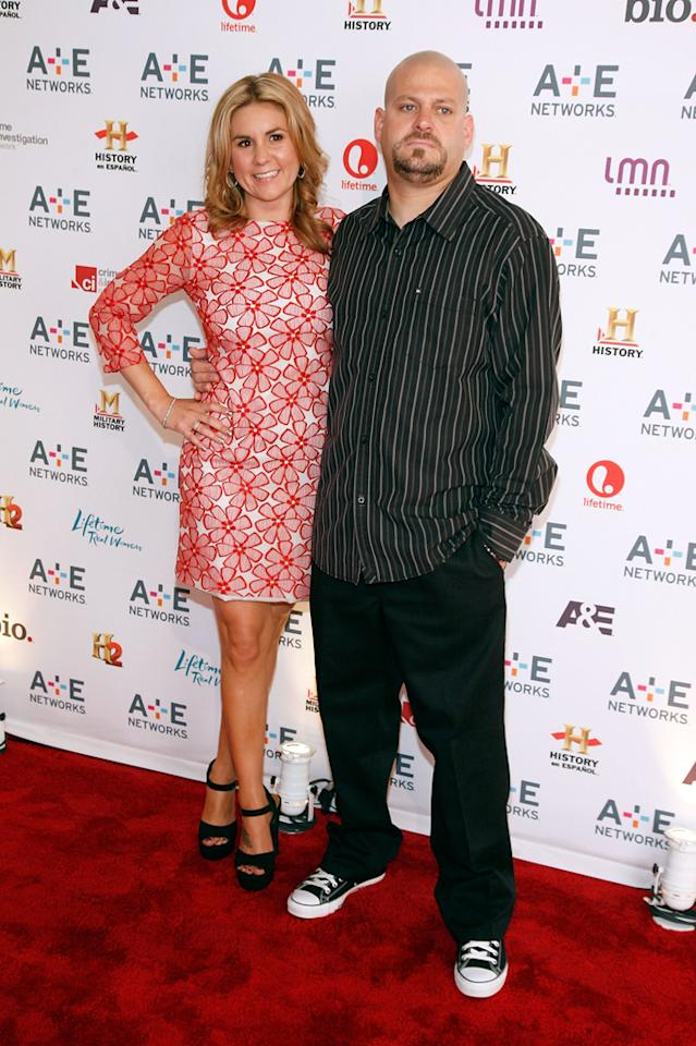 "Brandi Passante and Jarrod Schulz (A&E's ""Storage Wars"") attend the A&E Networks 2012 Upfront at Lincoln Center on May 9, 2012 in New York City."