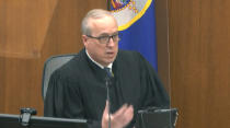 In this image from video, Hennepin County Judge Peter Cahill reads instructions to the jury before closing arguments, Monday, April 19, 2021, in the trial of former Minneapolis police officer Derek Chauvin at the Hennepin County Courthouse in Minneapolis. Chauvin is charged in the May 25, 2020 death of George Floyd. (Court TV via AP, Pool)