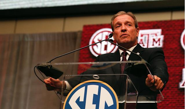 A former Texas A&M player described in detail allegations of cash payments, player mistreatment and injury mismanagement after Jimbo Fisher arrived. (AP)