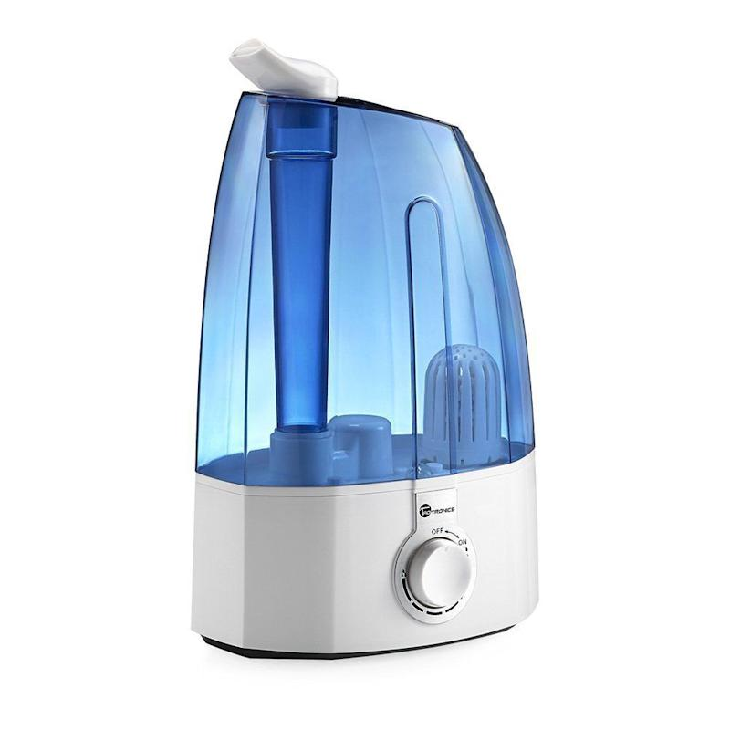 "It has dual rotating misting outlets, so you get <a href=""https://www.amazon.com/TaoTronics-Ultrasonic-Humidifiers-Humidifier-Rotatable/dp/B01JYJT1E8/ref=zg_bs_hi_4?_encoding=UTF8&psc=1&refRID=ZH4N70VX2G5Y5ZSVG808"" target=""_blank"">twice the mist output</a> of most humidifiers. Plus, it's on sale right now. <br /><strong>Price: <a href=""https://www.amazon.com/TaoTronics-Ultrasonic-Humidifiers-Humidifier-Rotatable/dp/B01JYJT1E8/ref=zg_bs_hi_4?_encoding=UTF8&psc=1&refRID=ZH4N70VX2G5Y5ZSVG808"" target=""_blank"">$40</a></strong>"