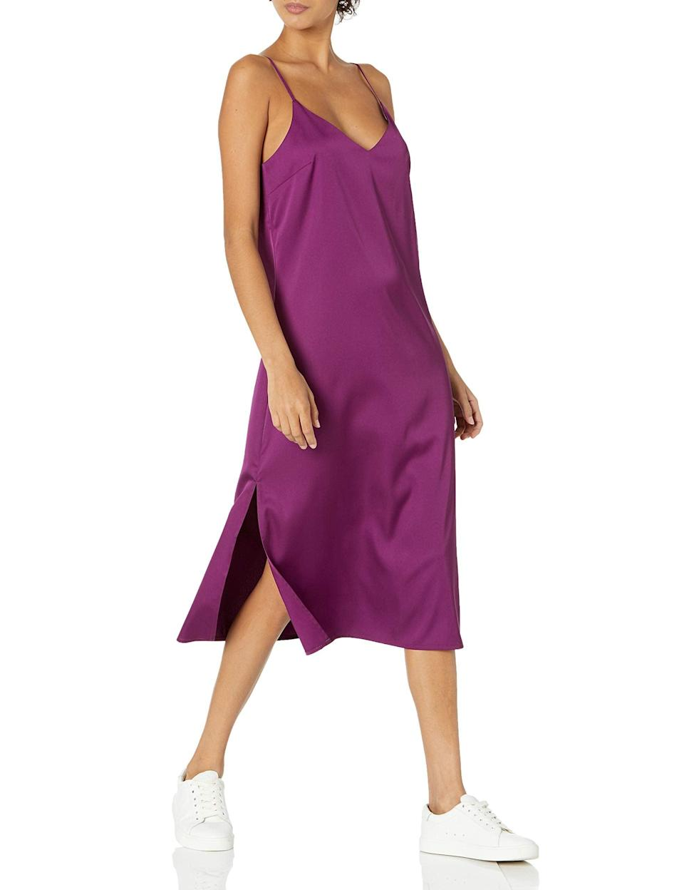 """<br><br><strong>The Drop</strong> Ana Silky V-Neck Midi Slip Dress, $, available at <a href=""""https://amzn.to/3wuJvj6"""" rel=""""nofollow noopener"""" target=""""_blank"""" data-ylk=""""slk:Amazon"""" class=""""link rapid-noclick-resp"""">Amazon</a>"""