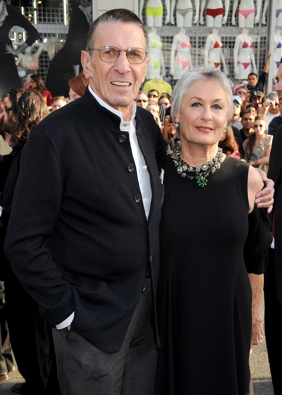 <p>Leonard Nimoy (Spock Prime) and wife Susan Bay. Nimoy returned as an older version of Spock in the rebooted <i>Star Trek</i>. <i>(Photo: Gregg DeGuire/FilmMagic)</i></p>